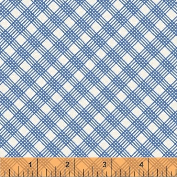 Penelope by Annabel Wrigley for Windham Fabrics - Weave in Blue