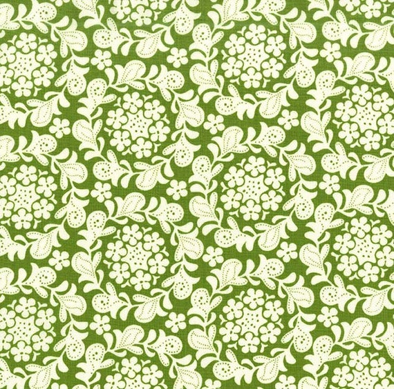 Strawberry Moon bySandi Henderson for Michael Miller - Petite Henna Garden in Meadow - Fat Quarter