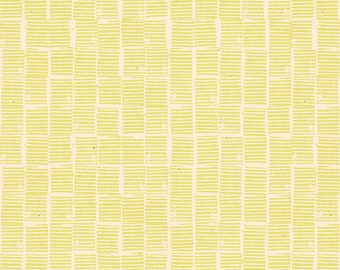 Heirloom Stripe Stamp in Yellow (RS4029 13) by Alexia Marcelle Abegg for Ruby Star Society -- Fat Quarter