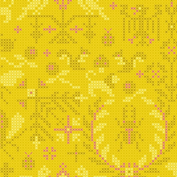 Sunprint 2020 by Alison Glass -- Fat quarter of Menagerie in Pencil