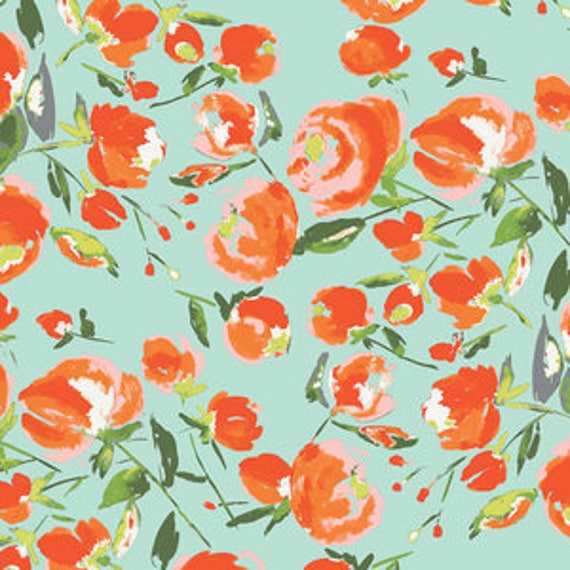 Wild Bloom by Bari J. Ackerman for Art Gallery Fabrics - Everlasting Blooms in Citrus - Fat Quarter