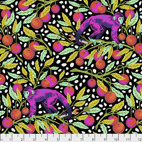 Fat Quarter Monkey Wrench in Guava - Tula Pink's Monkey Wrench for Free Spirit Fabrics