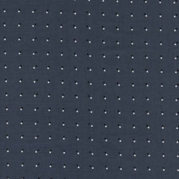 Black and White 3 -- Double Dots in Dark Grey by Cotton and Steel House Designer