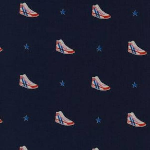 Kicks -- Little Kicks in Navy by Melody Miller for Cotton and Steel