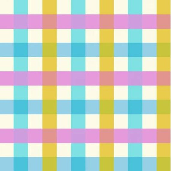 Malibu by Heather Ross -- Fat quarter of Gingham in Aqua - 52148-2