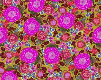 Shannon Newlin Vibrant Blooms -- Fat Quarter of Rose in Fuchsia
