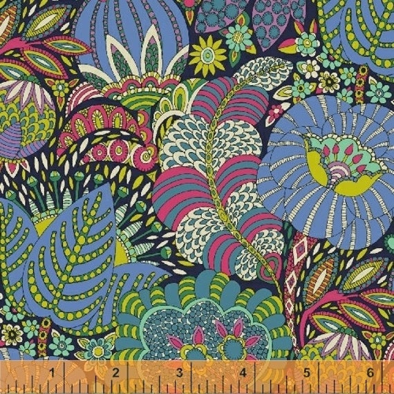 Fantasy by Sally Kelly for Windham Fabrics - Fat Quarter of 51287-1