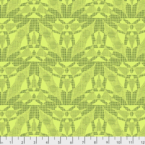 Amy Butler Natural Beauty -- Fat Quarter of Spider Web in Lime
