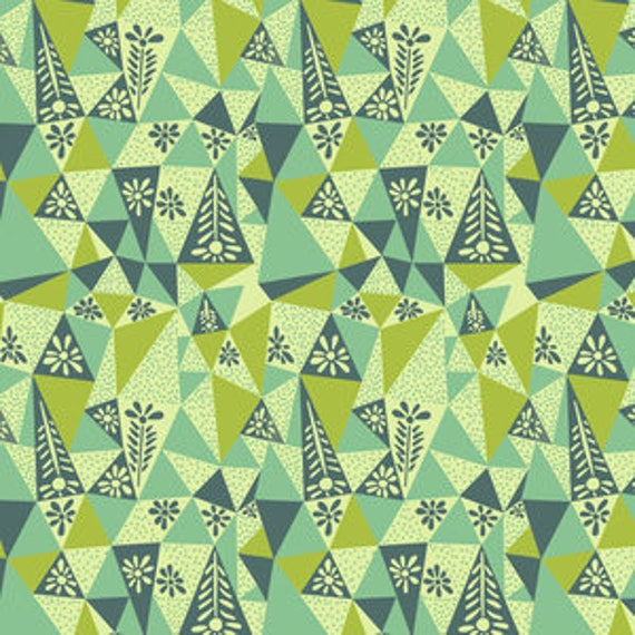 Sweet Dreams by Anna Horner for Free Spirit Fabrics - Garden Prism in Lichen