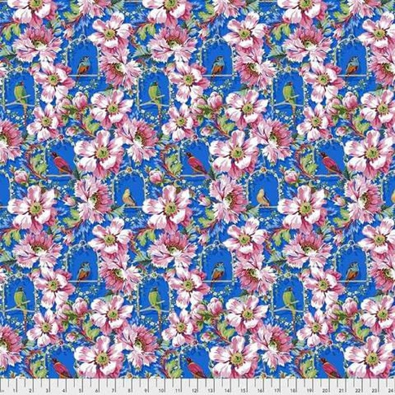 Jardin de la Reine by Odile Bailloeul for Free Spirit Fabrics - Fat quarter of The Queen's Musicians Small in Royal