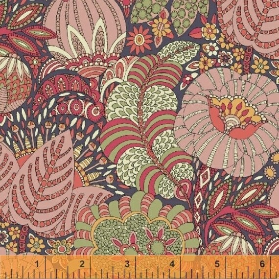 Fantasy by Sally Kelly for Windham Fabrics - Fat Quarter of 51287-2