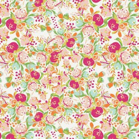 Wild Bloom by Bari J. Ackerman for Art Gallery Fabrics - Flowerfield in Sunrise - Fat Quarter