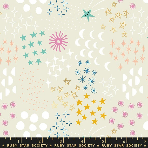Stellar -- Ruby Star Society Fabric, RS1007-11M  Final Frontier in Metallic Cotton by Rashida Coleman Hale-- Fat Quarter
