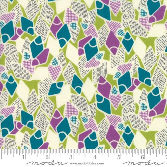 Moda Remix Flip Flops in Green Envy (1815717) by Jen Kingwell -- Fat Quarter