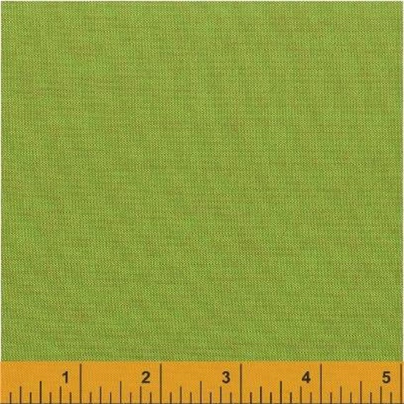 Fat Quarter - Heather Ross Kinder Coordinate - Artisan Cotton - Green/Copper - Another Point of View for Windham - 40173-0