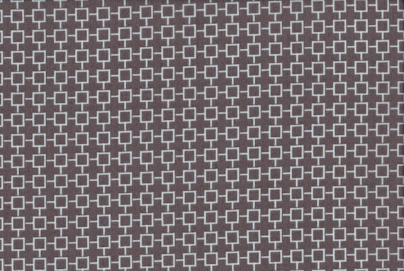 Japanese cotton fat quarter by Kei - Geosquares in dark taupe