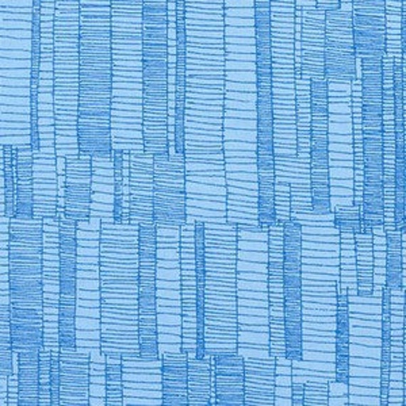 Doe by Carolyn Friedlander - Ladder Lines in Blueberry - Fat Quarter