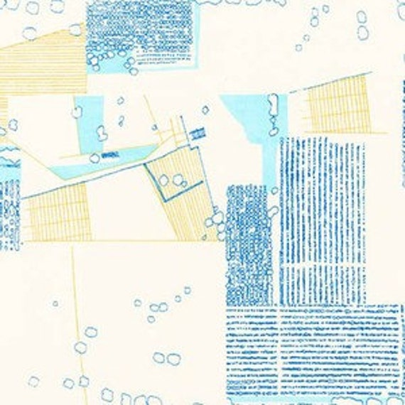 In Stock!  Friedlander by Carolyn Friedlander - Fat Quarter- Aerial Lawn in Pacific