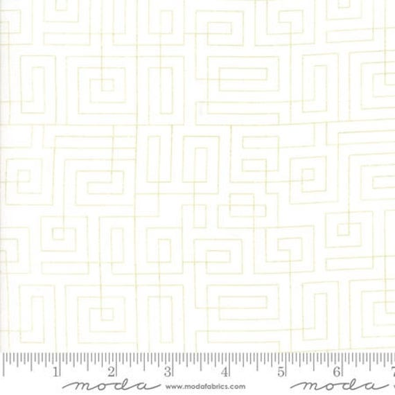 Moda Thrive Sassy Green in Off White Hang Up (1090611) by Natalia and Kathleen -- Fat Quarter