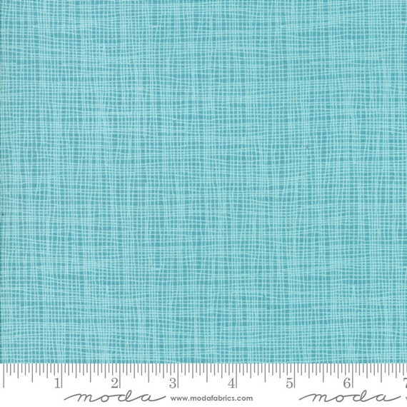 Day in Paris. -- Grid in Teal (1686 16) by Zen Chic for Moda -- Fat Quarter