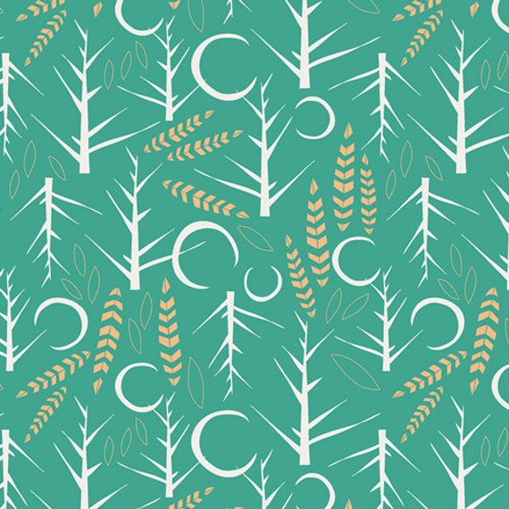 Lugu by Jessica Swift for Art Gallery Fabrics - Fat Quarter of Naktis Viridis
