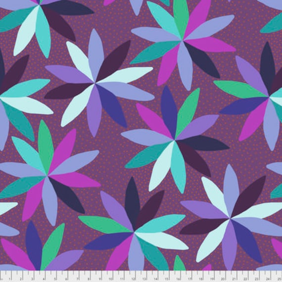 Passion Flower by Anna Horner for Free Spirit Fabrics - Cartwheels in Run