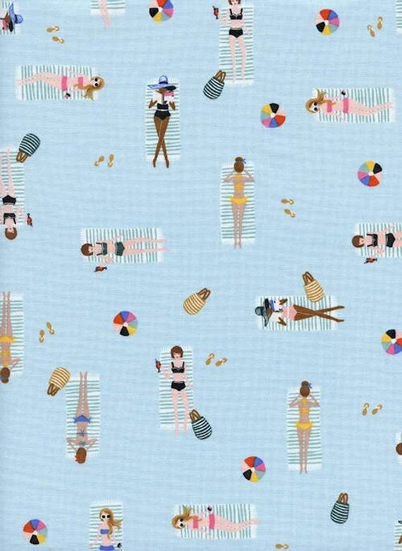 Amalfi --  Fat Quarter of Sun Girls in Sky by Rifle Paper Company for Cotton and Steel