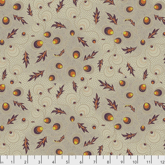New Vintage by Kathy Doughty for Free Spirit Fabrics - Fat quarter of Passion Vine in Natural