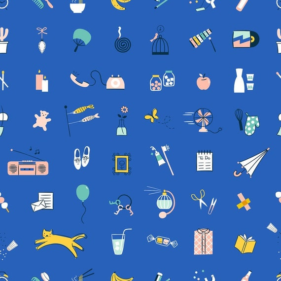 Whatnot Stuff in Blue Ribbon RS1012 16 by Rashida Coleman Hale - Ruby Star Society - Fat Quarter