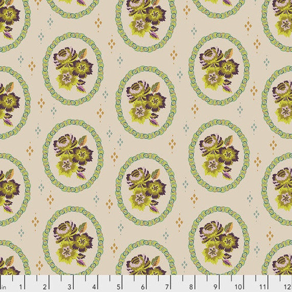 New Vintage by Kathy Doughty for Free Spirit Fabrics - Fat quarter of Mini Charm in Chantilly