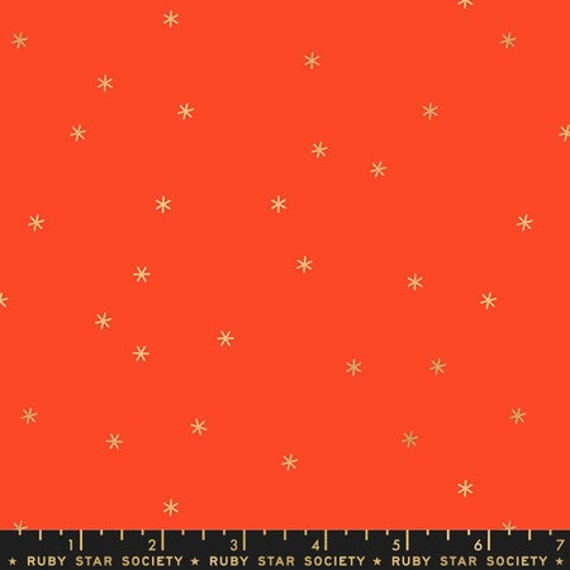 Social and Spark -- Spark in Rooster Red Metallic (RS000531M) by Ruby Star Society for Moda -- Fat Quarter