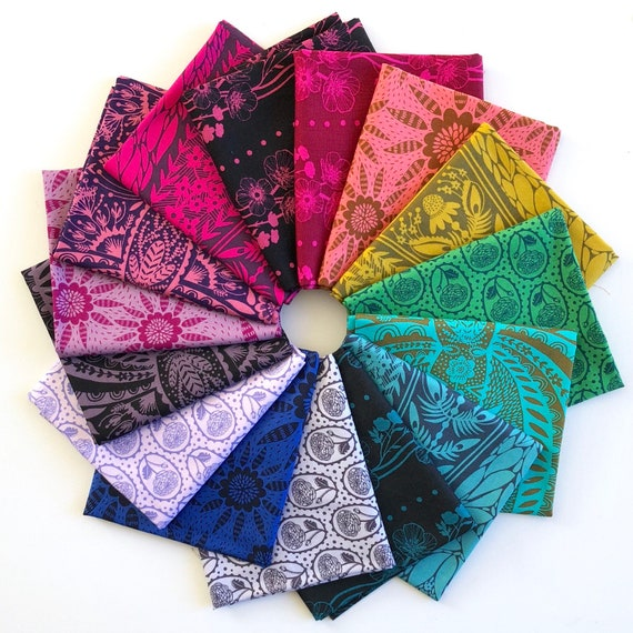 Fat Quarter Bundle of Second Nature by Anna Horner for Conservatory Fabrics Chapter 2 -- Anna Maria Horner for Free Spirit -- 15 in total