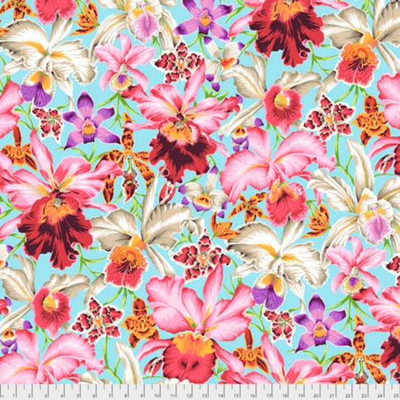 Spring 2018 Kaffe Fassett Collective  -- Fat Quarter of Orchid in Natural