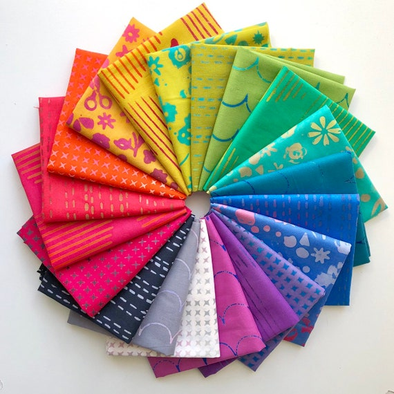 Stitched by Alison Glass for Andover Fabrics Fat Quarter Bundle of 20