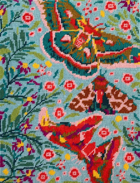 Deposit Only for October/November Delivery of Anna Maria Horner Tapestry Kit -- Winged Waterfall