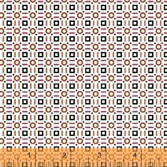 Uppercase Volume 2 by Janine Vangool for Windham Fabrics - Gridlock in Red - Fat Quarter