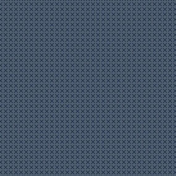 Cross Stitch by Alison Glass -- Fat quarter of Cross Stitch in Slate  - A9254-K1