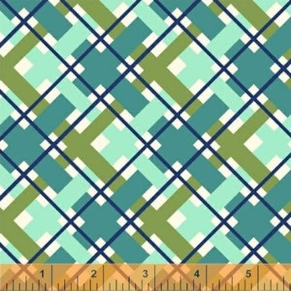 Hello Jane by Allison Harris for Windham Fabrics - Plaid In Green - Fat Quarter