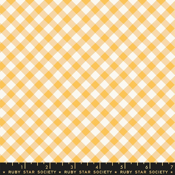 Food Group Painted Gingham in Butternut (RS5044 11) by Ruby Star Society -- Fat Quarter