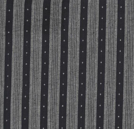 Moda Low Volume Wovens Stripe Spot in Charcoal by Jen Kingwell -- Fat Quarter