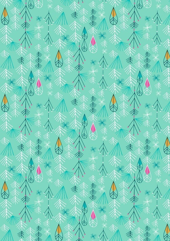 Flock by Bethan Janine for Dashwood Studio - Flock Geo in Mint