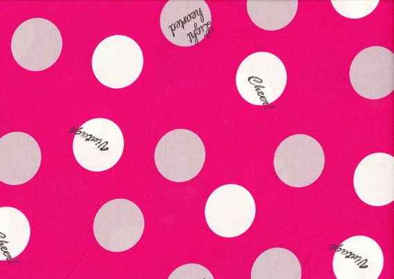 Lighthearted by Ayumi Takahashi for Kokka - Text Circles in Pink