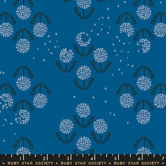Darlings -- Dandelion in Blue Raspberry (RS5014-17) by Ruby Star Society for Moda -- Fat Quarter