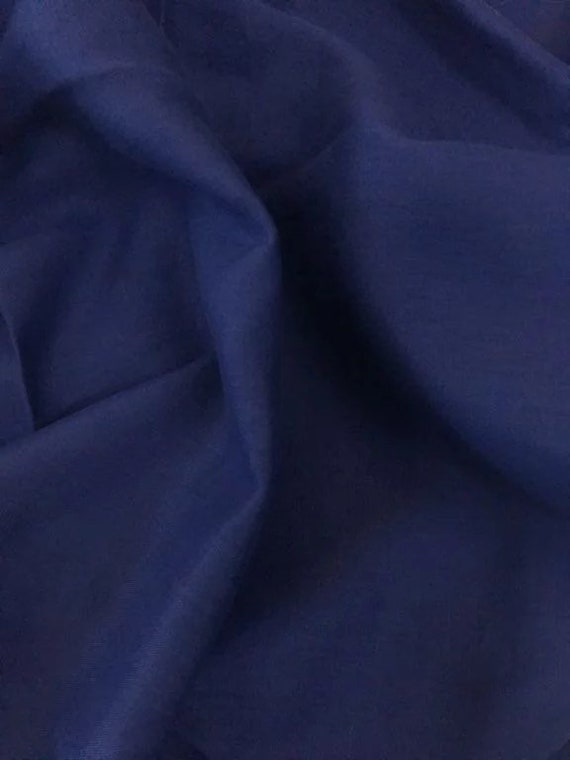 Rossini Linen in Deep Blue - Purchase in 50cm Increments