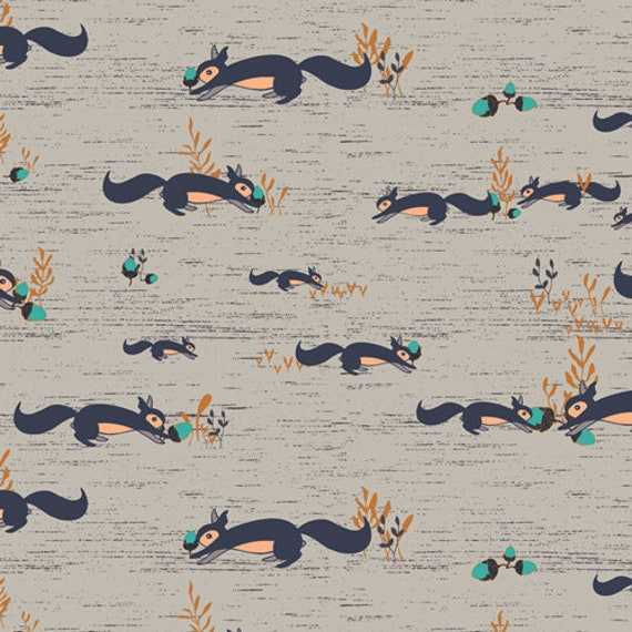 Little Forester Fusion by Art Gallery Fabrics - Squirrels at Play