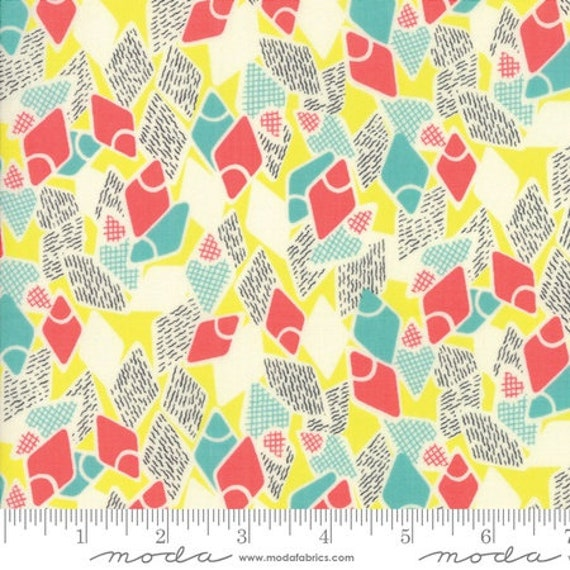 Moda Remix Flip Flops in Limoncello (1815715) by Jen Kingwell -- Fat Quarter