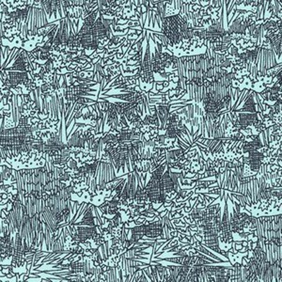 In Stock! Friedlander by Carolyn Friedlander - Fat Quarter- Green Wall Lawn in Aqua