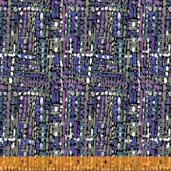 Fox Wood by Betsy Olmsted for Windham Fabrics - Fat Quarter of 51922-6 Tweed in Navy