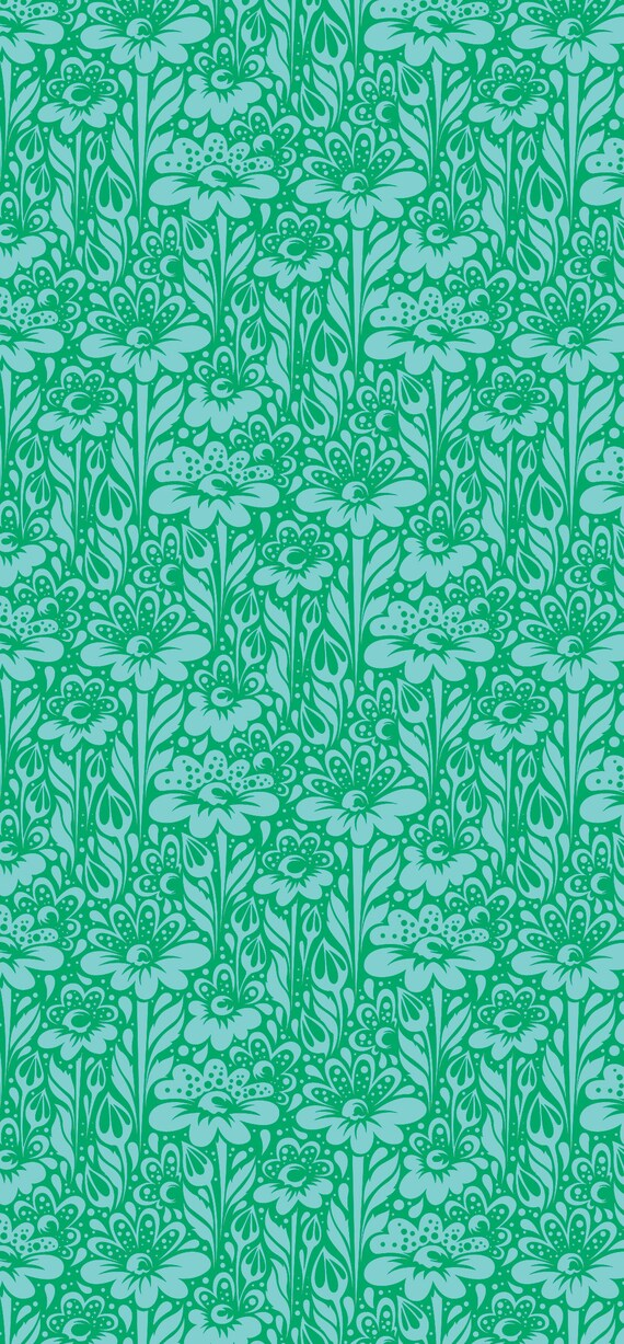 Fat Quarter Daisy Buds in Grass - Tula Pink's True Colors 2015 for Free Spirit Fabrics