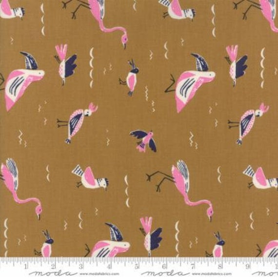 Moda Yucatan Seabirds in Earthenware (1671116) by Annie Brady -- Fat Quarter
